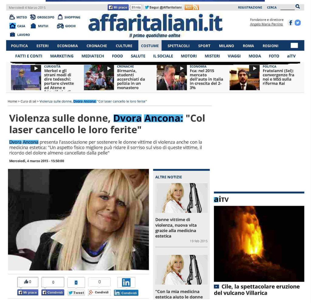 La dott.ssa Ancona su affaritaliani.it