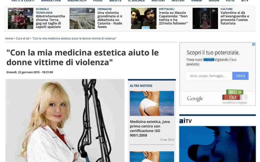 La medicina estetica dell'Associazione D.V.O.R.A.